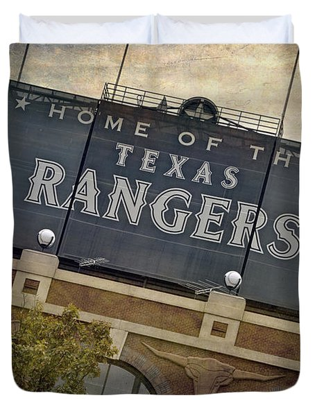 Rangers Ballpark In Arlington Color Duvet Cover