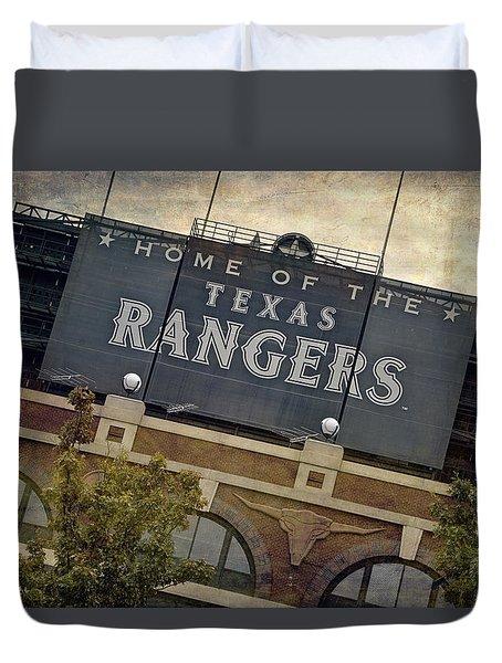 Rangers Ballpark In Arlington Color Duvet Cover