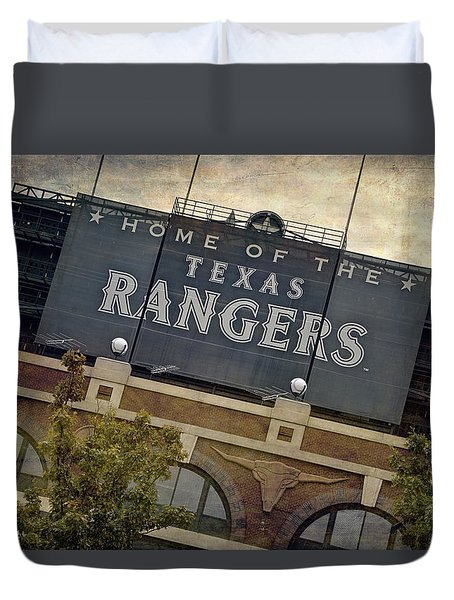 Rangers Ballpark In Arlington Color Duvet Cover by Joan Carroll