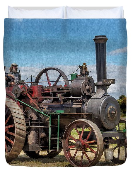 Ransomes Steam Engine Duvet Cover
