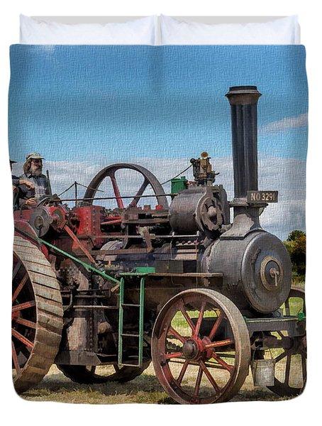 Ransomes Steam Engine Duvet Cover