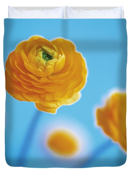 Duvet Cover featuring the photograph Ranunculus by Lana Enderle