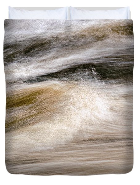 Duvet Cover featuring the photograph Rapids by Marty Saccone