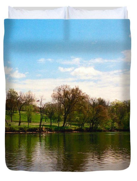Rappahannock River I Duvet Cover by Anita Lewis