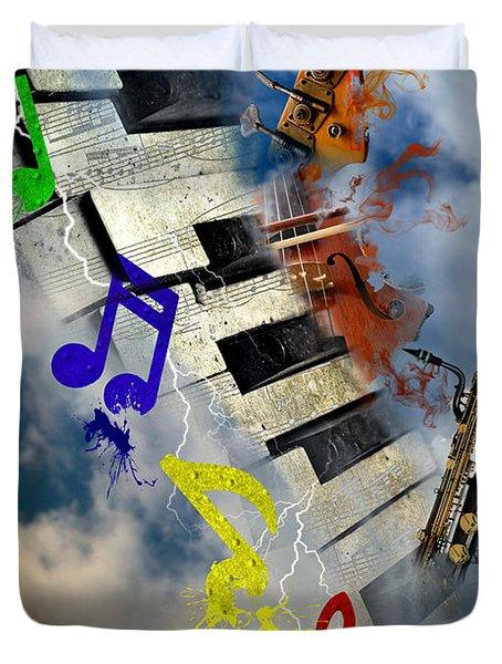 Duvet Cover featuring the digital art Rapture Celebration by Davina Washington