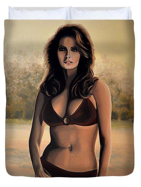 Raquel Welch 2 Duvet Cover by Paul Meijering