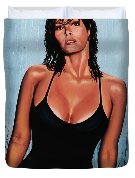 Raquel Welch Duvet Cover