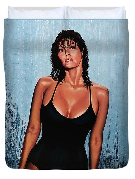 Raquel Welch Duvet Cover by Paul Meijering