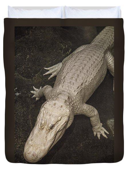 Rare White Alligator Duvet Cover
