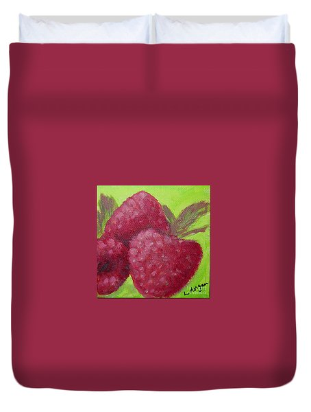 Raspberries Duvet Cover