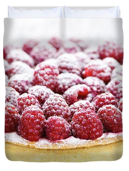 Raspberry Tart Duvet Cover by Elena Elisseeva
