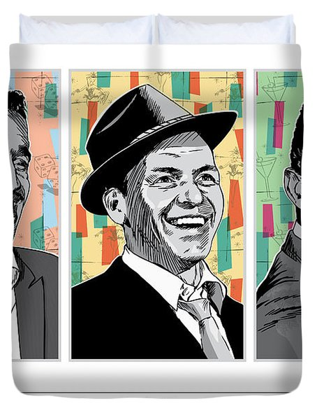 Rat Pack Pop Art Duvet Cover
