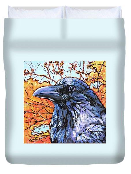 Raven Head Duvet Cover by Nadi Spencer