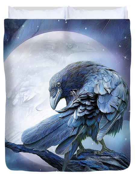 Raven Moon Duvet Cover