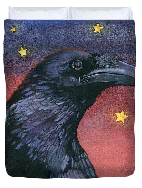 Raven Steals The Moon - Moon What Moon? Duvet Cover