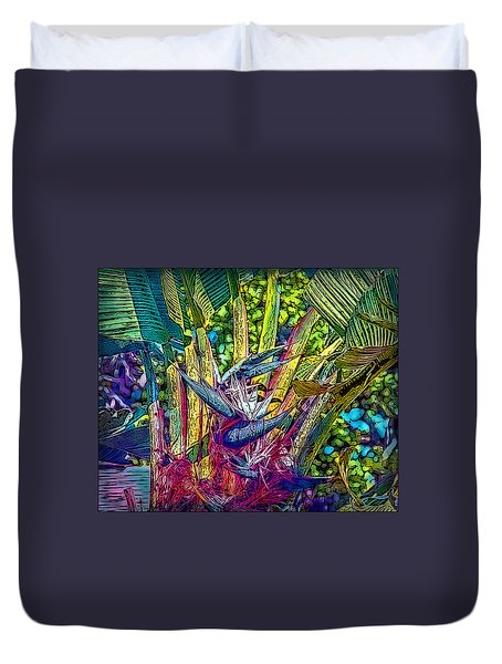 Duvet Cover featuring the photograph Ravenala by Hanny Heim
