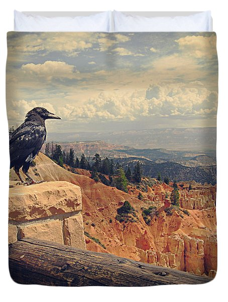 Raven's Eye View Duvet Cover by Meghan at FireBonnet Art