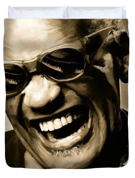 Ray Charles - Portrait Duvet Cover