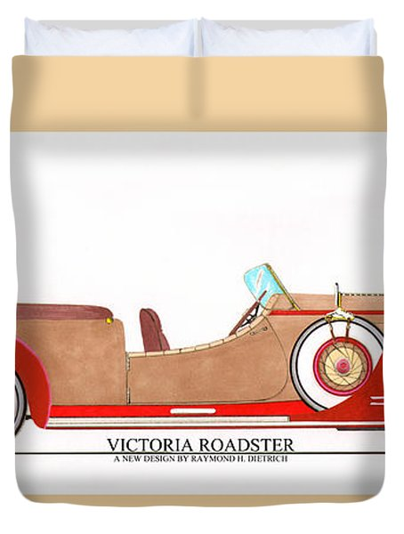 Ray Dietrich Packard Victoria Roadster Concept Design Duvet Cover by Jack Pumphrey