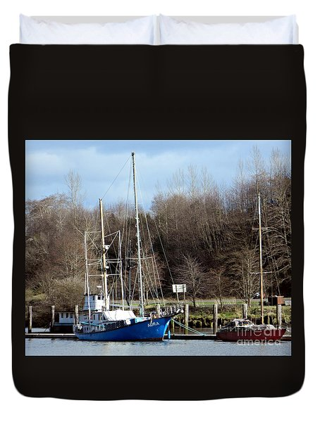 Raymond Fishing Boats Duvet Cover by Chalet Roome-Rigdon
