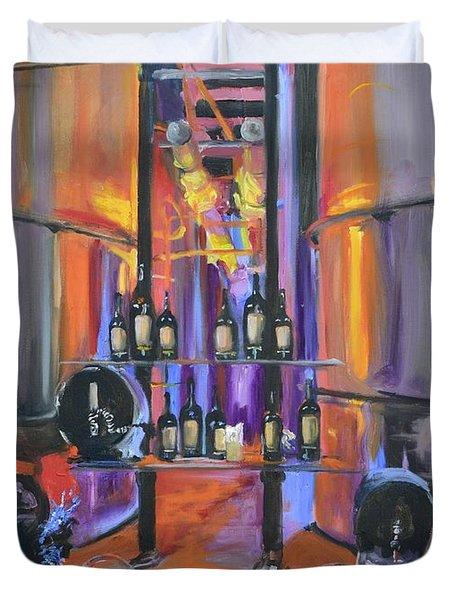 Raymond Vineyards Crystal Cellar II Duvet Cover by Donna Tuten