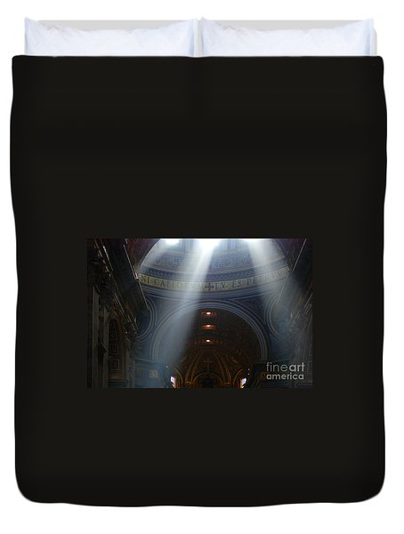 Rays Of Hope St. Peter's Basillica Italy  Duvet Cover