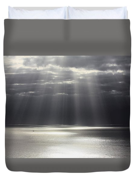 Rays Of Hope Duvet Cover by Shane Bechler