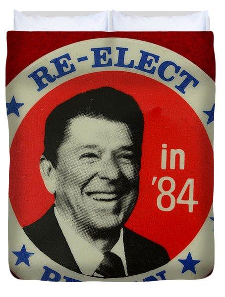 Re-elect Reagan Duvet Cover by Paul Ward