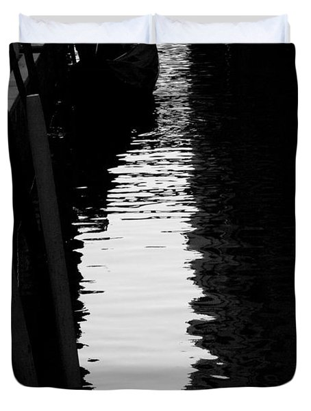 Reaching Back - Venice Duvet Cover by Lisa Parrish