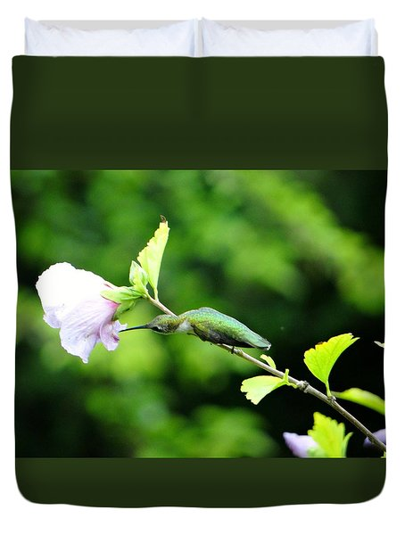 Duvet Cover featuring the photograph Reaching For Nectar by Ecinja