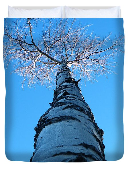 Reaching For The Light Duvet Cover by Brian Boyle