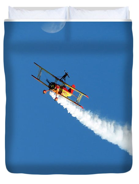 Reaching For The Moon. Oshkosh 2012. Postcard Border. Duvet Cover