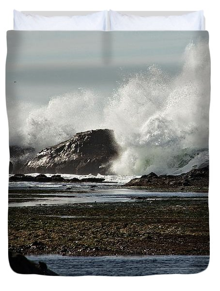 Duvet Cover featuring the photograph Reaching For The Sky by Dave Files
