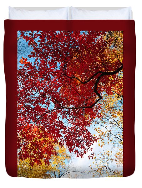 Duvet Cover featuring the photograph Reaching For The Sky by Debbie Green