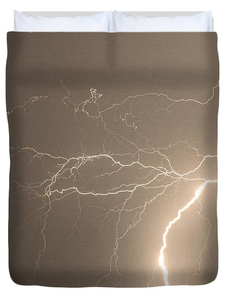 Reaching Out Touching Me Touching You Sepia Duvet Cover by James BO  Insogna