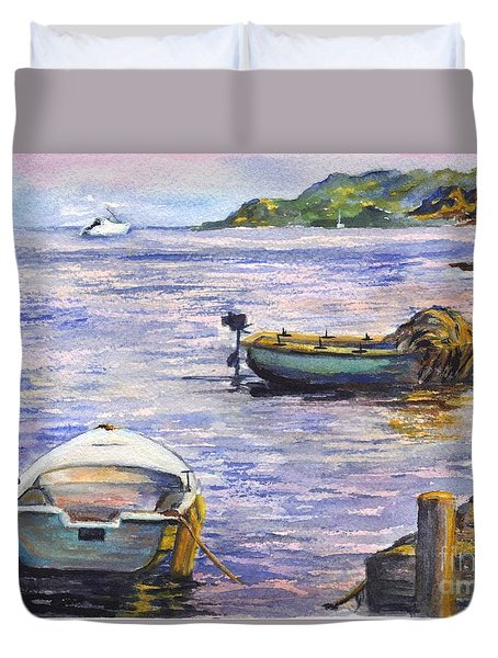 Ready For A Sunset Row Duvet Cover by Carol Wisniewski
