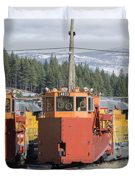 Duvet Cover featuring the photograph Ready For More Snow At Donner Pass by Jim Thompson