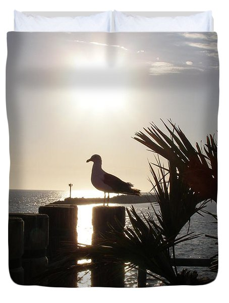 Ready For Sunset Duvet Cover by Bev Conover