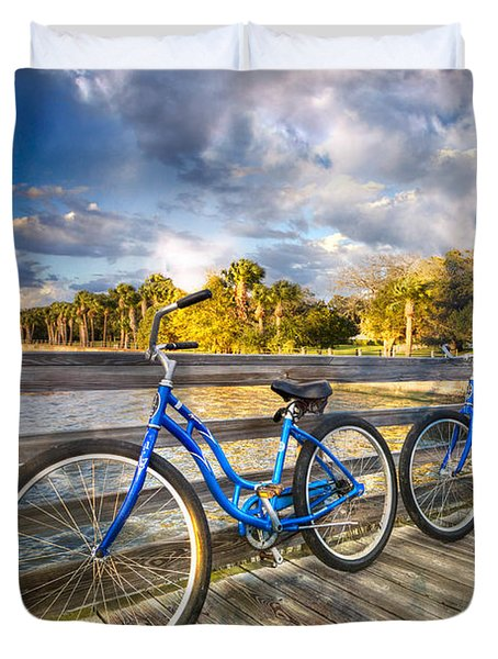 Ready To Ride Duvet Cover by Debra and Dave Vanderlaan