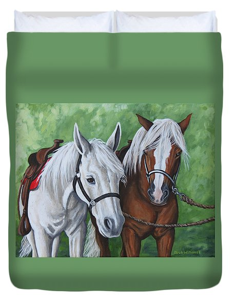 Ready To Ride Duvet Cover by Penny Birch-Williams