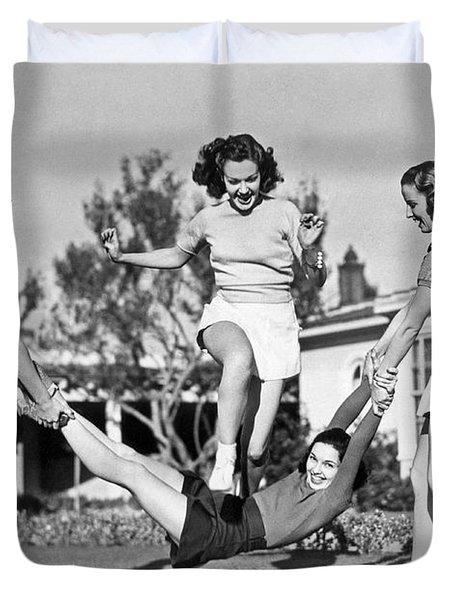 Real College Swingers Duvet Cover
