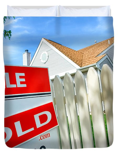 Real Estate Sold Sign Duvet Cover