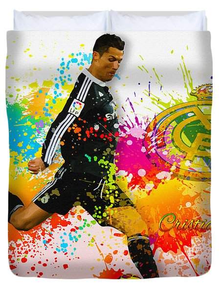 Real Madrid - Portuguese Forward Cristiano Ronaldo Duvet Cover