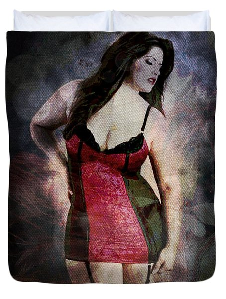 Real Woman Real Curves Duvet Cover by Absinthe Art By Michelle LeAnn Scott