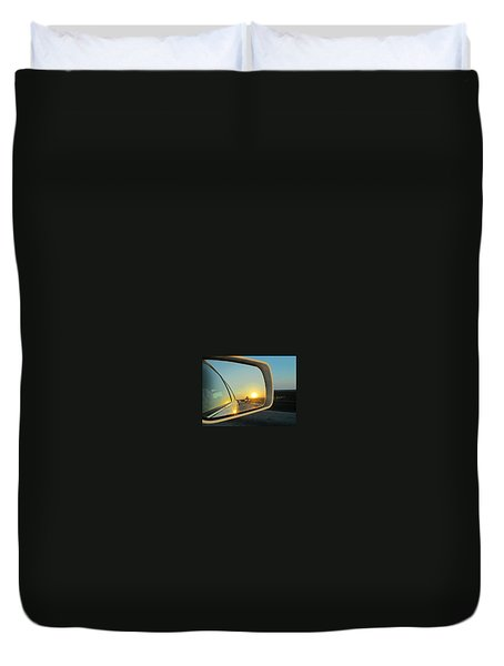 Rear View Sunset Duvet Cover