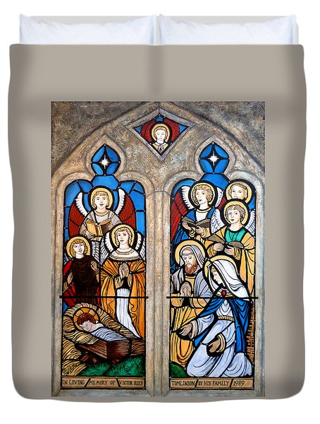 Reason For The Season Duvet Cover by Tom Roderick