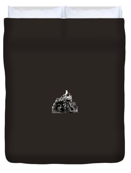Rebel Soldiers Perched On Railroad Engine No Known Location Or Date-2014 Duvet Cover