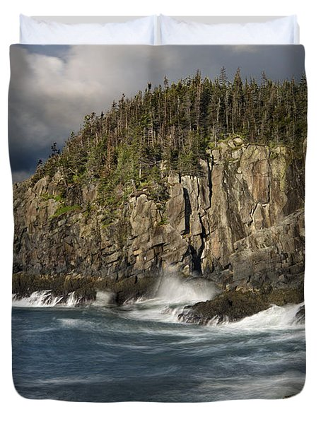 Receding Storm At Gulliver's Hole Duvet Cover