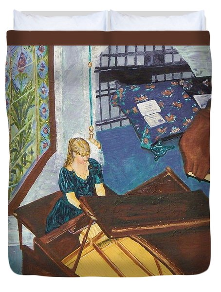 Recital Rehersal Duvet Cover by Betty Compton