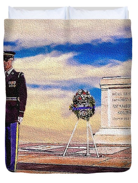 Recitation Of The Requirements Of Honor Guards Duvet Cover